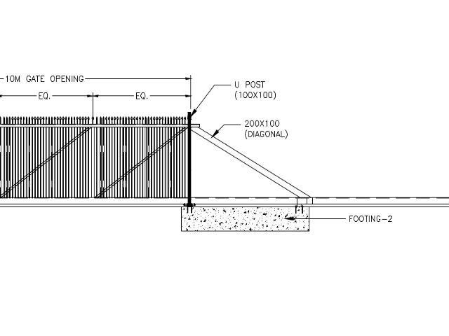 Cantilever Gate CBR 10M
