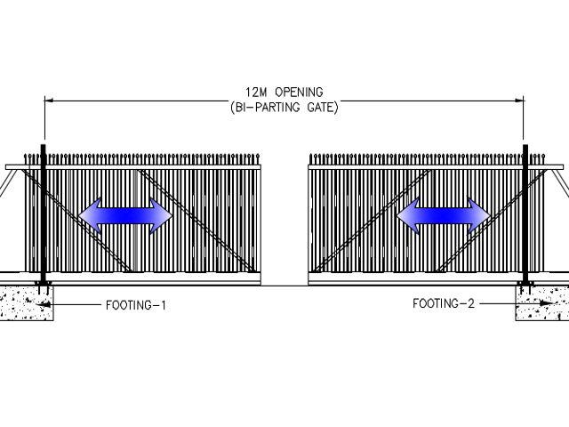Cantilever Gate CG 12M BI PARTING